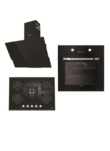 VİNOLA Vinola Set 035 (MOG.7010.111.01 + MOFA.501.111.01  + MCWB104.111.602) Siyah Ankastre Set Renkli